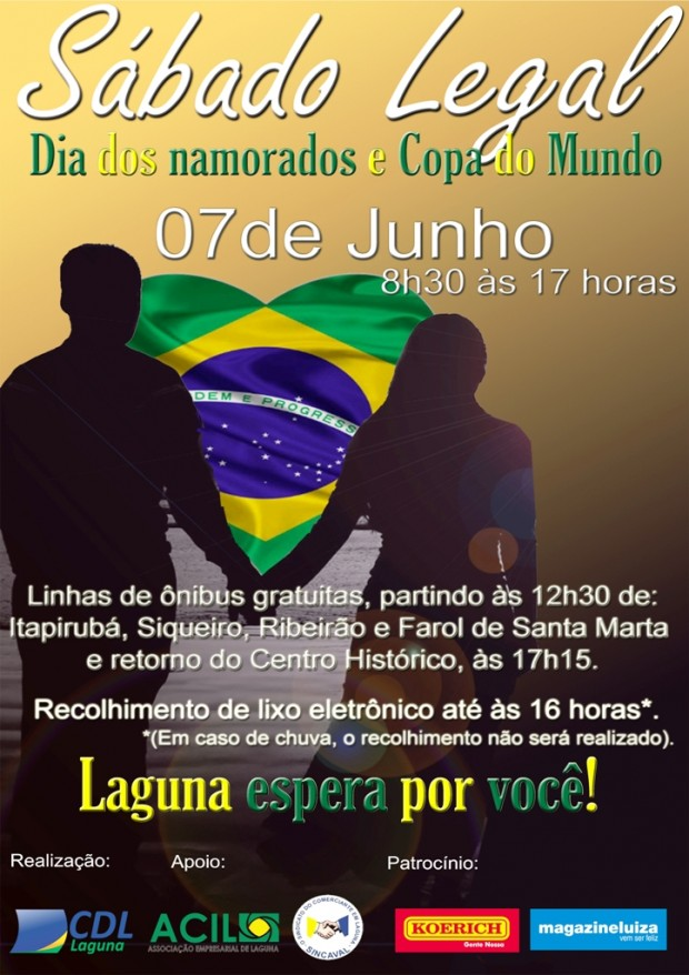 Sábado Legal do dia dos namorados, Santo Antônio e Copa do Mundo
