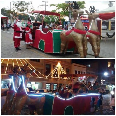 Conheça o trenó motorizado do Papai Noel em Laguna*