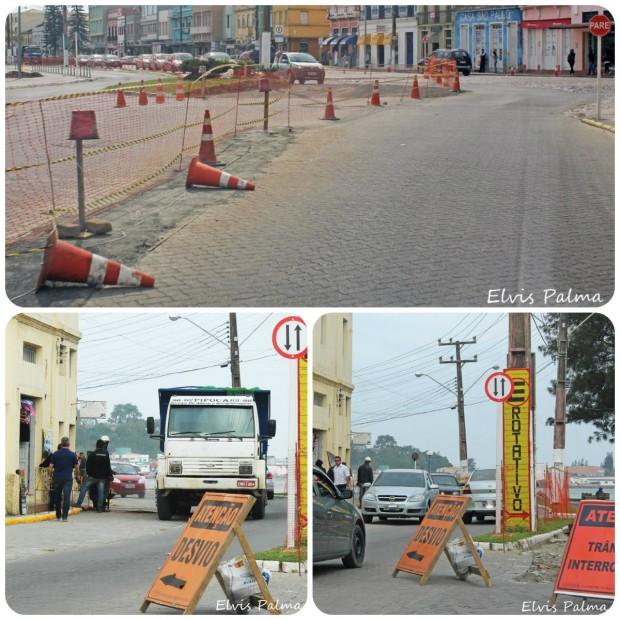 Modificação do trânsito nas ruas do Centro Histórico
