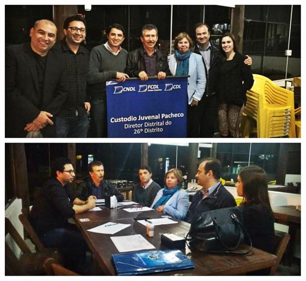 CDL de Laguna participa de reunião distrital realizada em Pescaria Brava