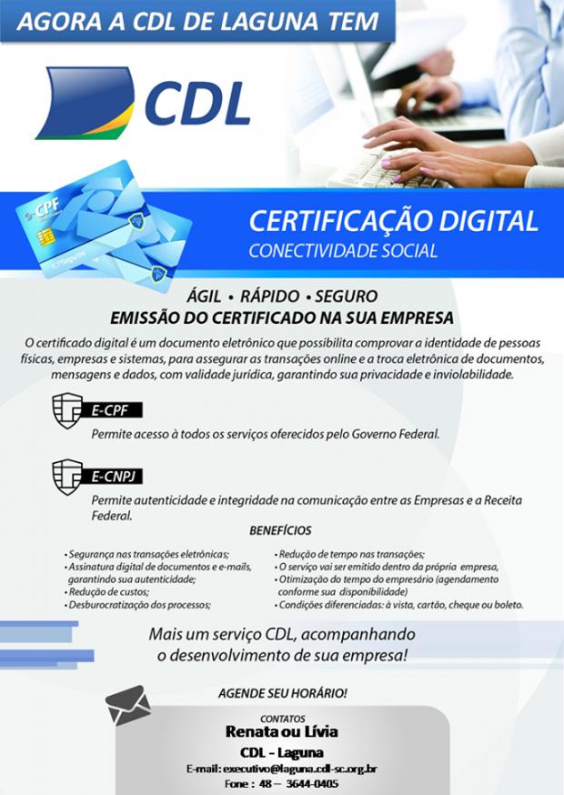 CDL de Laguna agora tem Certificação Digital