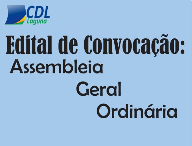 EDITAL DE CONVOCAÇÃO: ASSEMBLEIA GERAL ORDINÁRIA