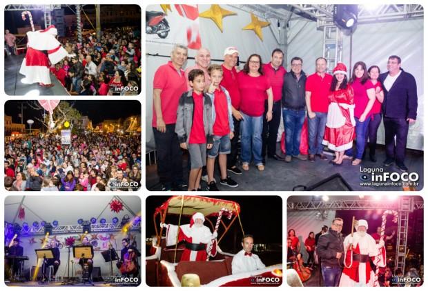 Papai Noel recebe a chave da cidade de Laguna