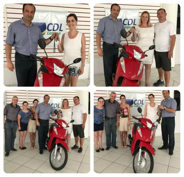 Entrega das motos Honda Biz 0KM do Natal Premiado 2016