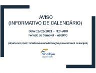 Informativo de calendário